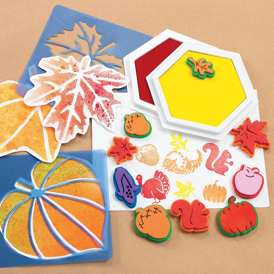 Autumn Stamp Art