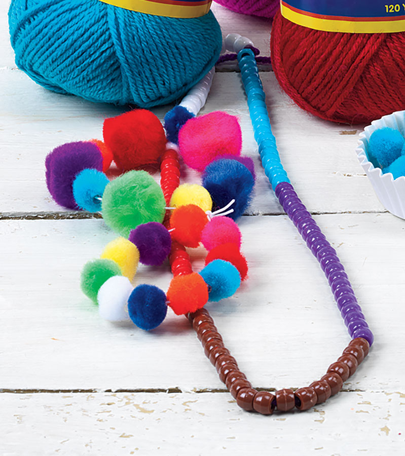 100th Day Colorful Counting Necklace