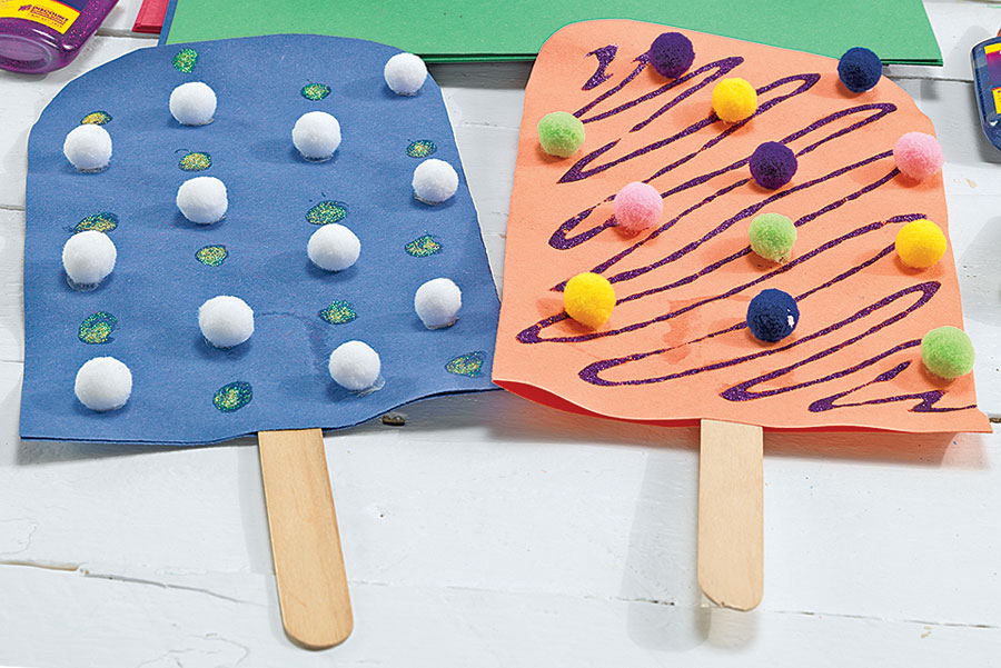 Construction Paper Popsicles