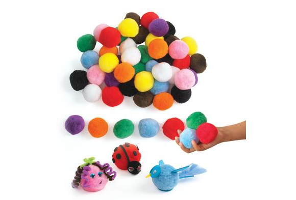 "Colorations® Jumbo 2"" Pom-Poms - 50 Pieces"