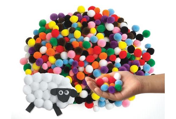 Colorations® Mini Pom-Poms - 500 Pieces
