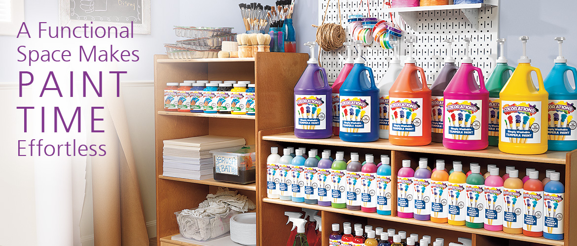 Colorations - A Functional Space Makes PAINT TIME Effortless