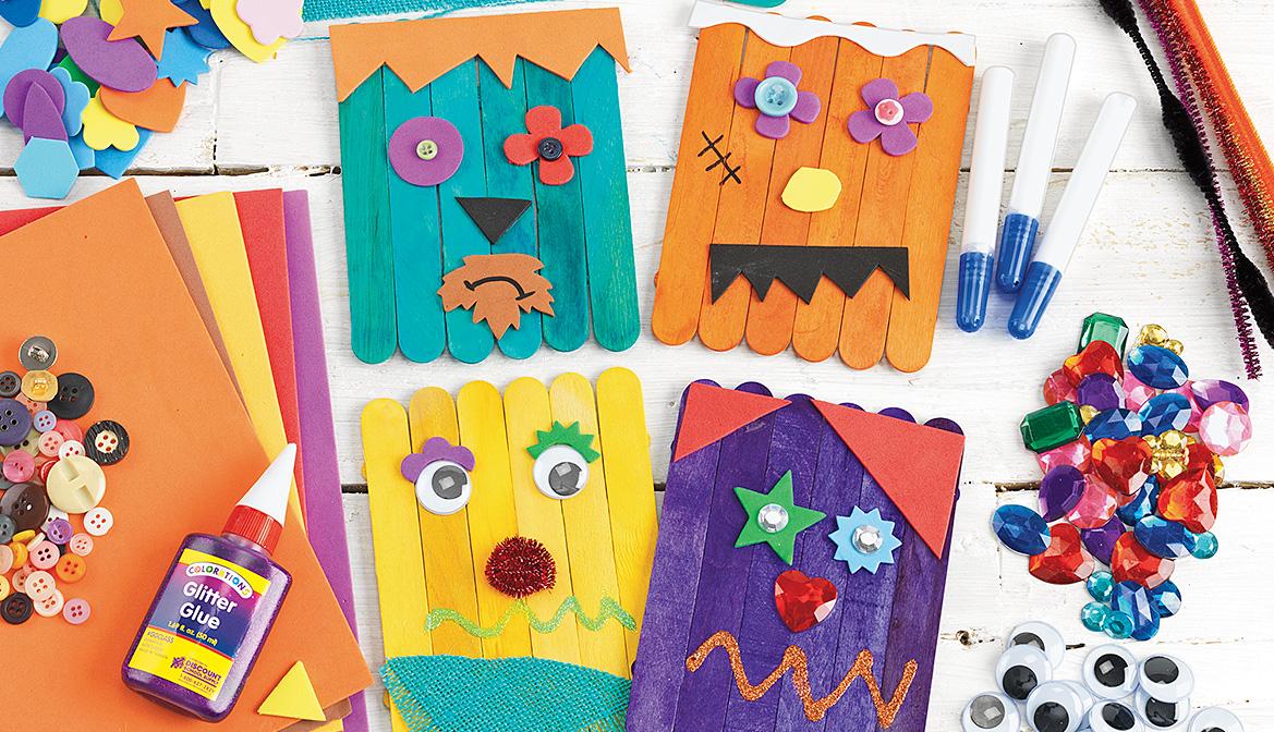 Craft Stick Monsters