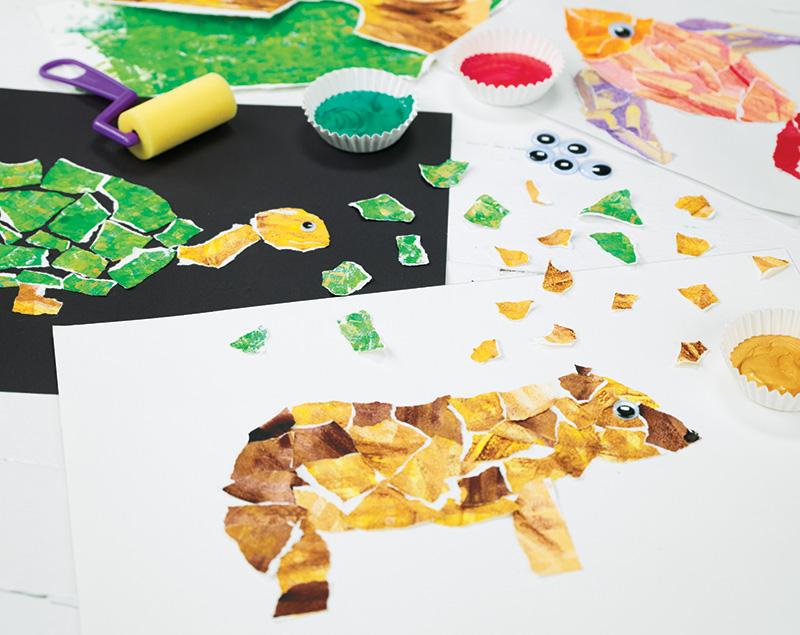 Torn Paper Animals
