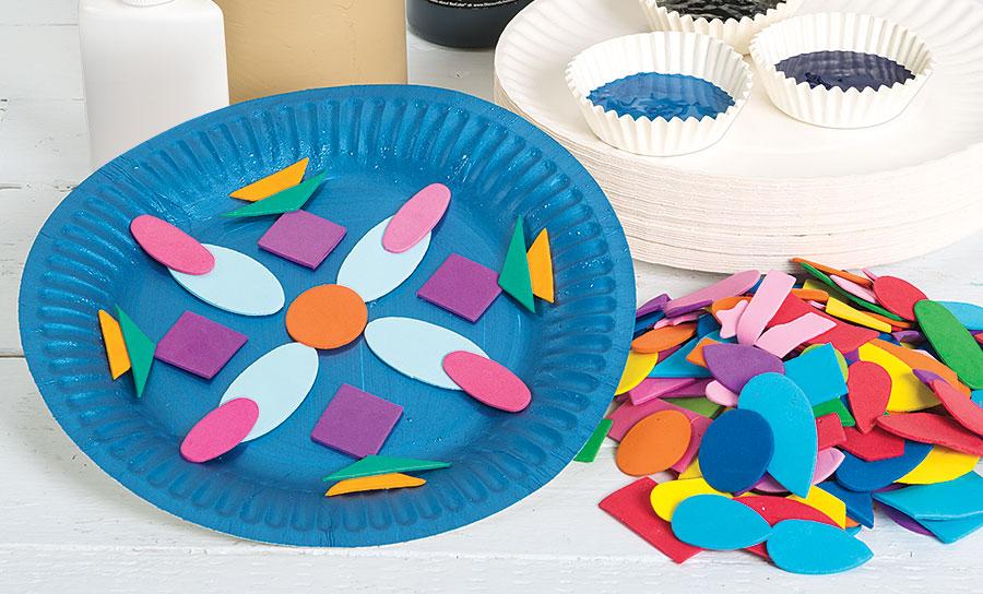 Indian Paper Plate Mandala