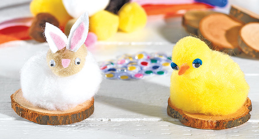 Pom-Pom Bunnies and Chicks