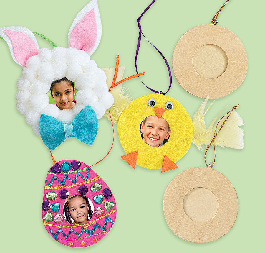 Spring Wood Photo Ornaments