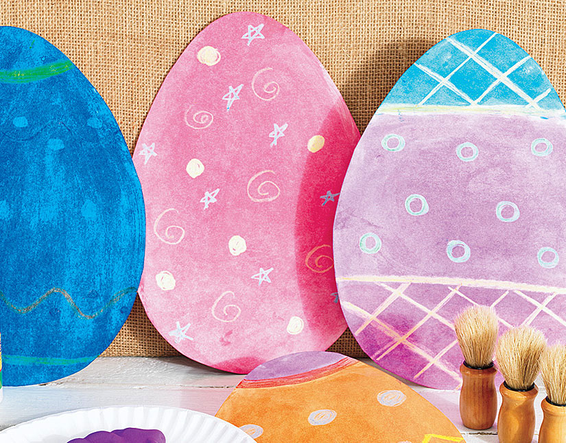Fancy Foam Paint Resist Eggs