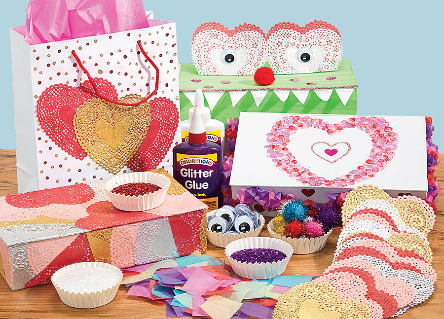 Personalized Valentine Bags and Boxes