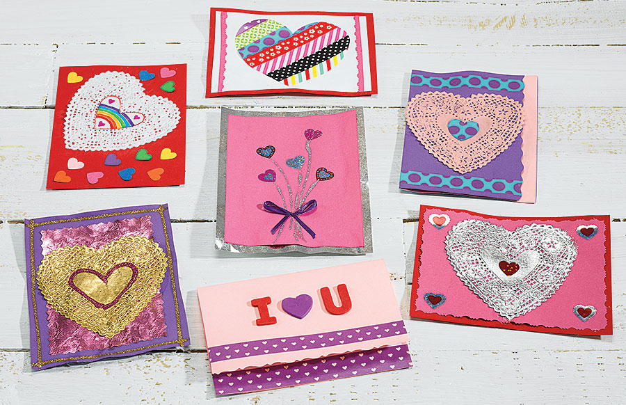 Colorful Valentine Cards