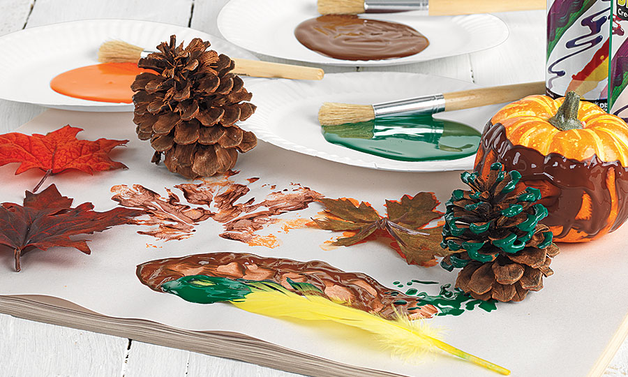 Fall BioColor Pinecone Painting