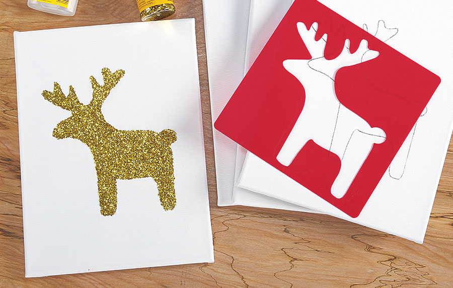 Reindeer Glitter Silhouette