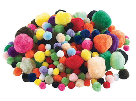 Foam Shapes and Poms