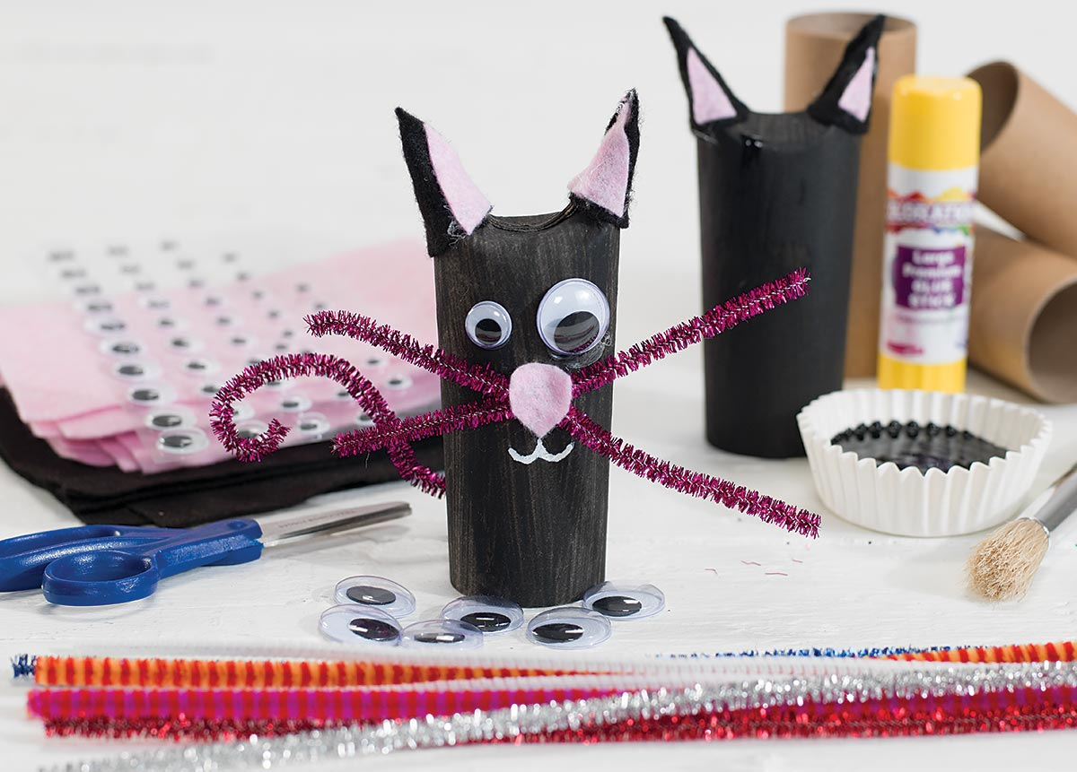 Cute Black Cat Stand Ups Craft Activity for Halloween