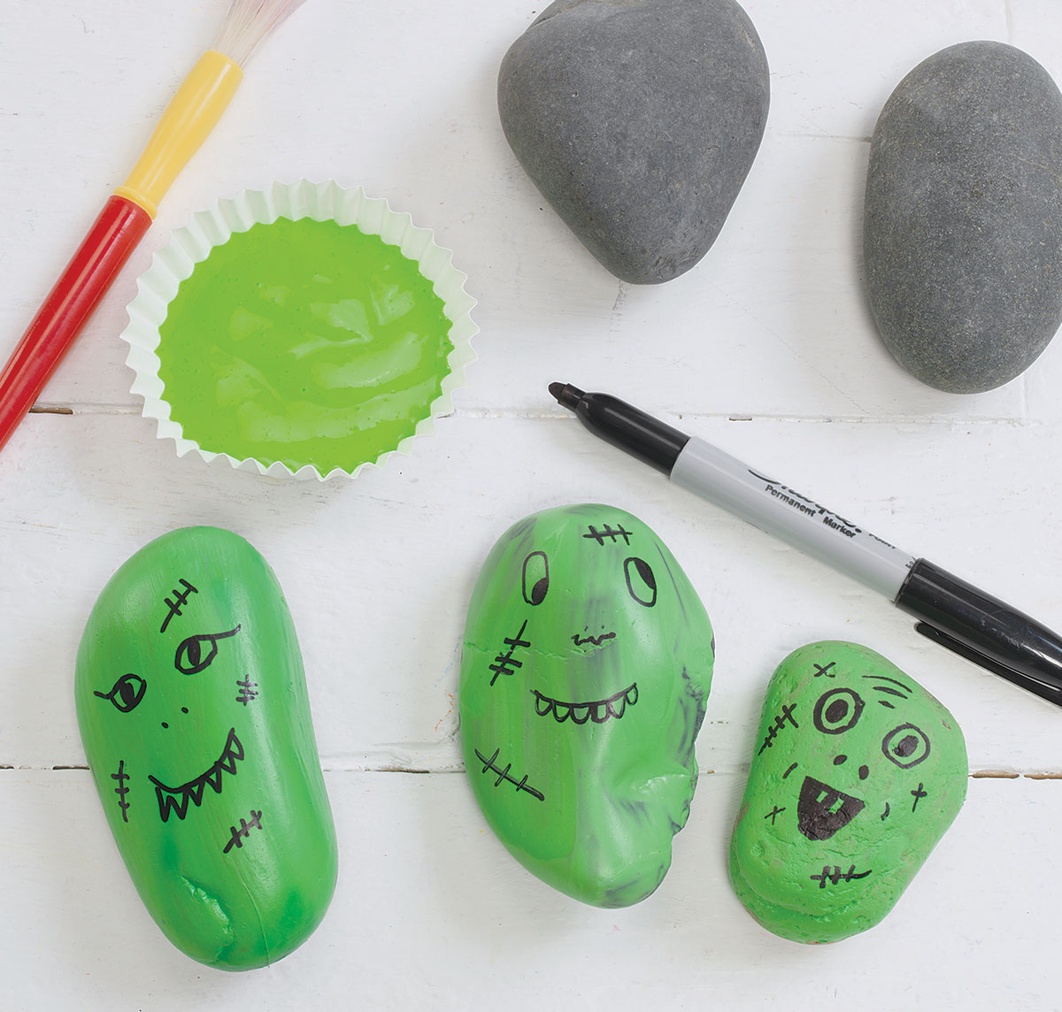 Silly Spooky Stones Craft for Halloween