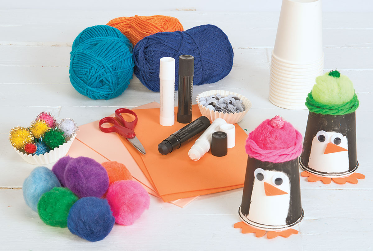 Beanie Penguins Creative Craft Activity for Winter