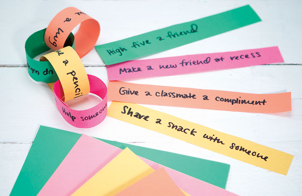 Chain of Caring Creative Craft Activity for Kindness Day