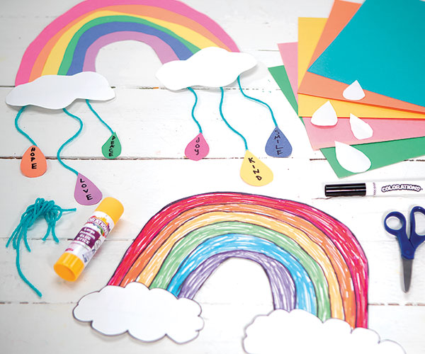 Rainbow of Kindness Mobile Creative Craft Activity for Kindness Day