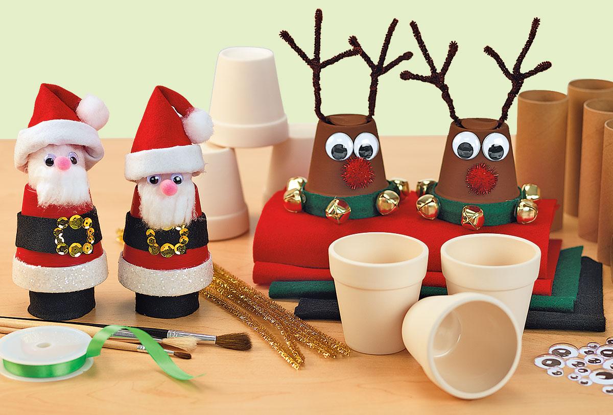 Santas and Reindeer Christmas Holiday Winter Creative Craft Activity