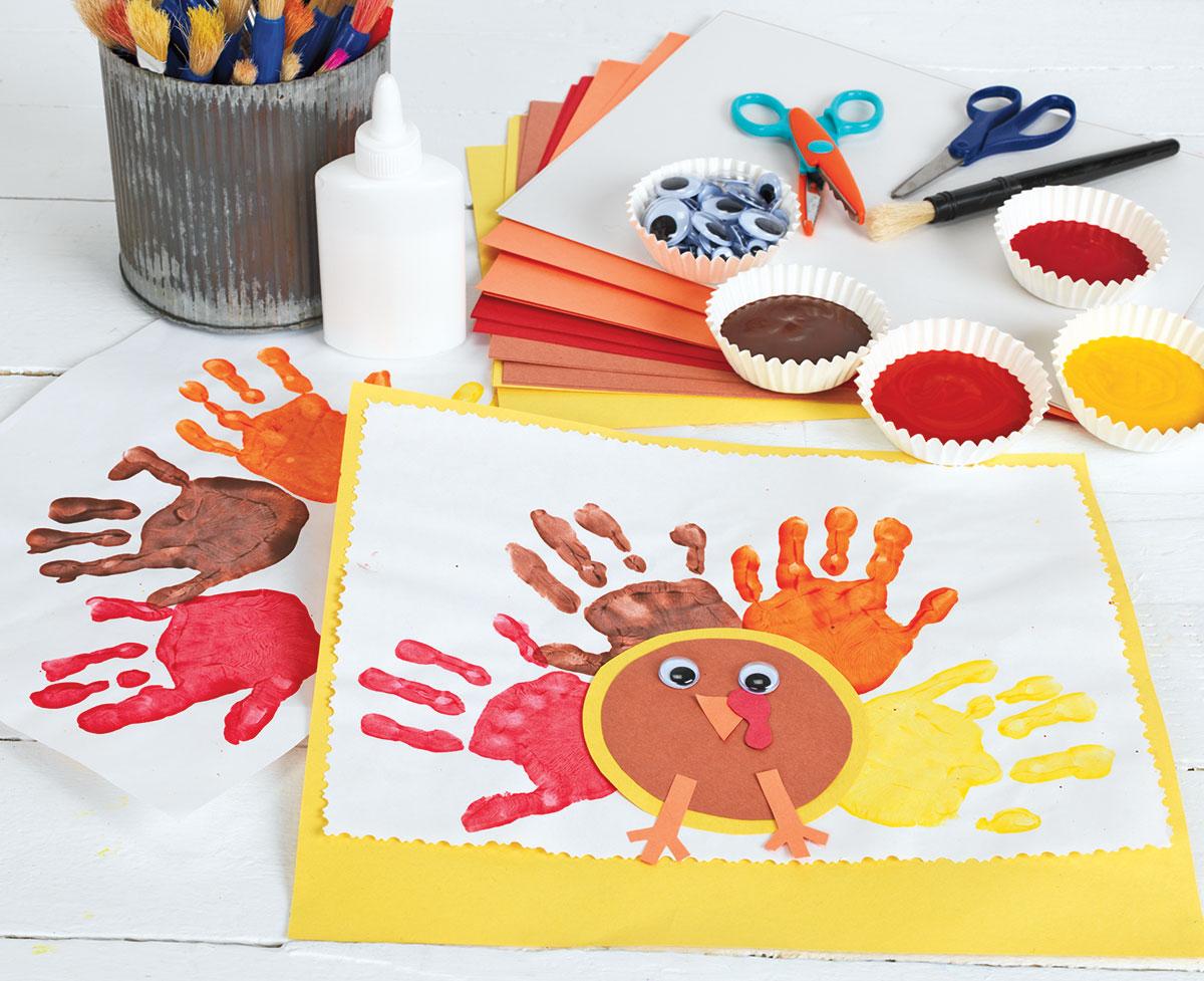 Thanksgiving Creative Craft Activity Hand Turkey