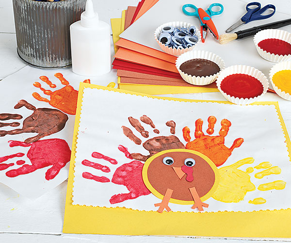 Thanksgiving Creative Craft Activity Hand Turkey