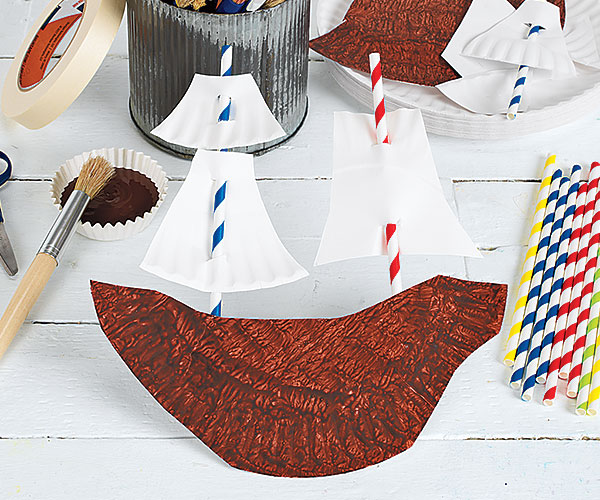 Thanksgiving Creative Craft Activity Pilgrim Ship