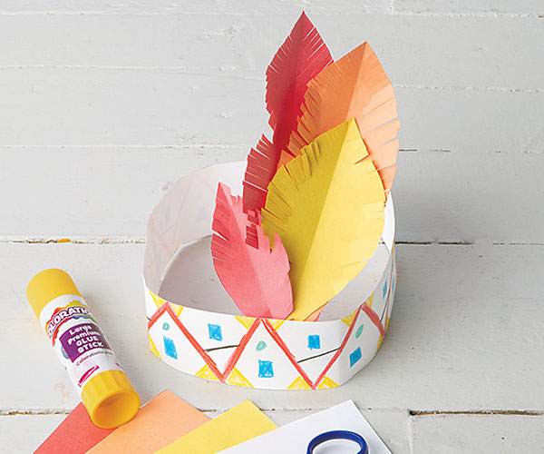 Native American Headband Creative Craft Activity for Thanksgiving
