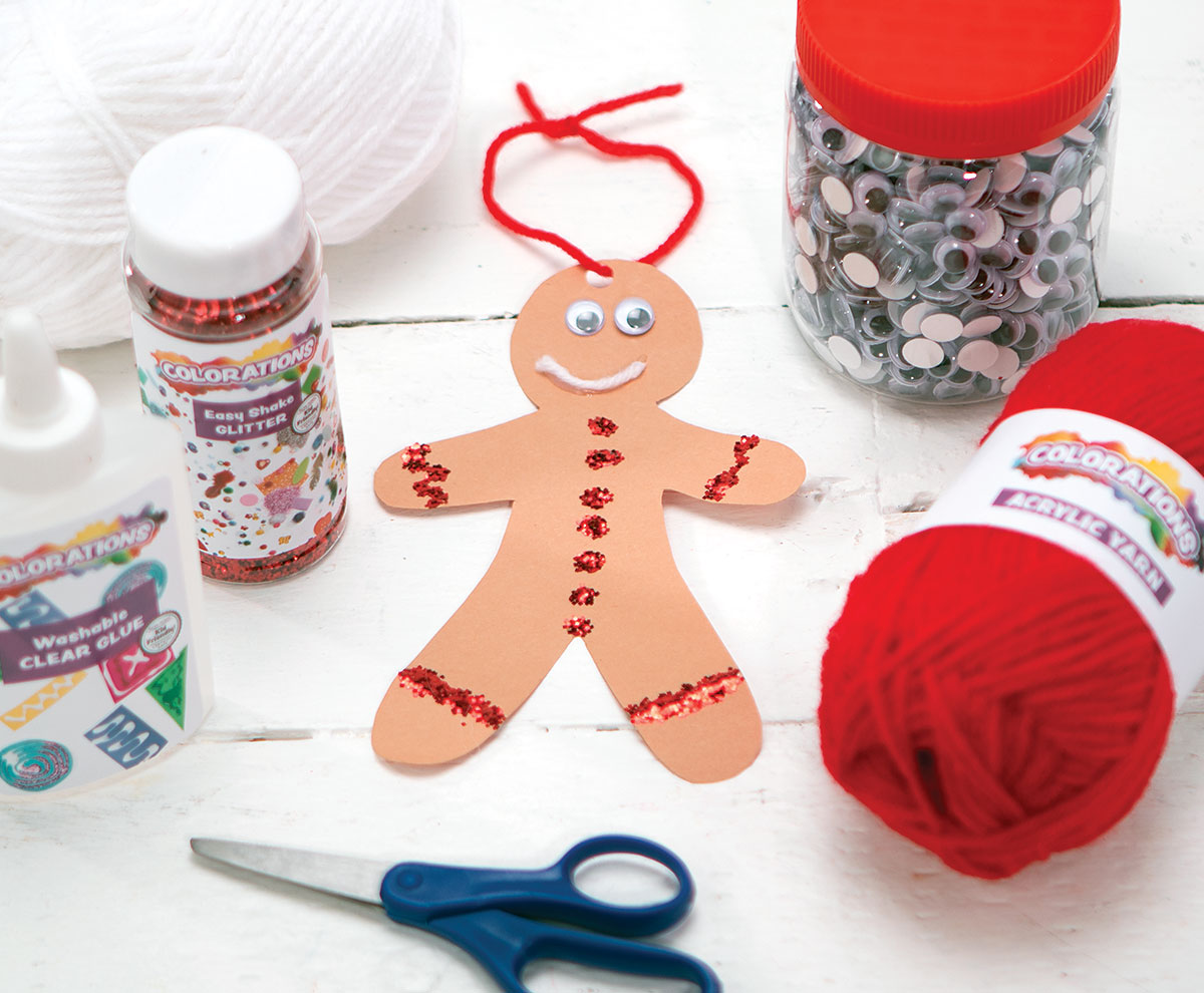 Gingerbread Person Ornament Creative Craft Activity for the Holidays