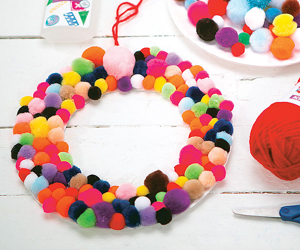 Pom Pom Wreath Creative Craft Activity for the Holidays