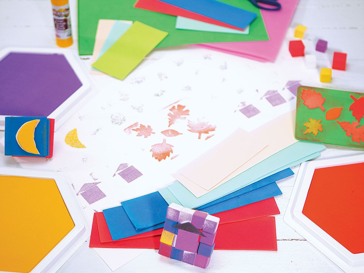 Stamping Creative Craft Activity - DIY Foam