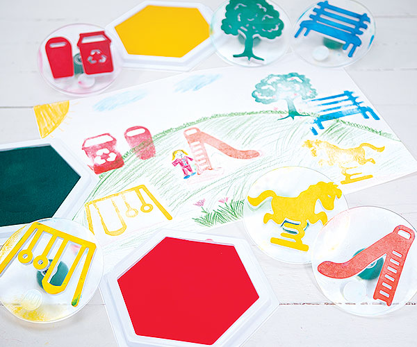 Stamping Creative Craft Activity - Create Your Own Park