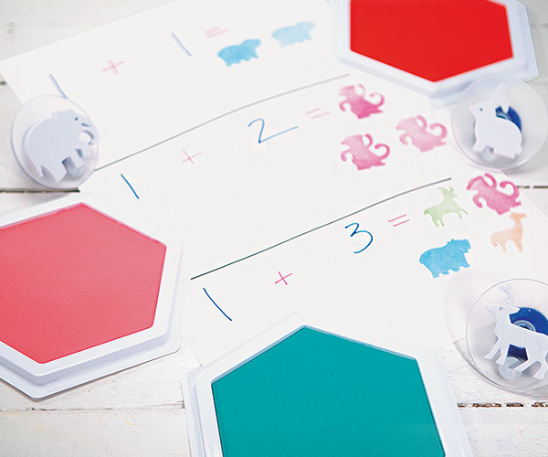 Stamping Creative Craft Activity - Math