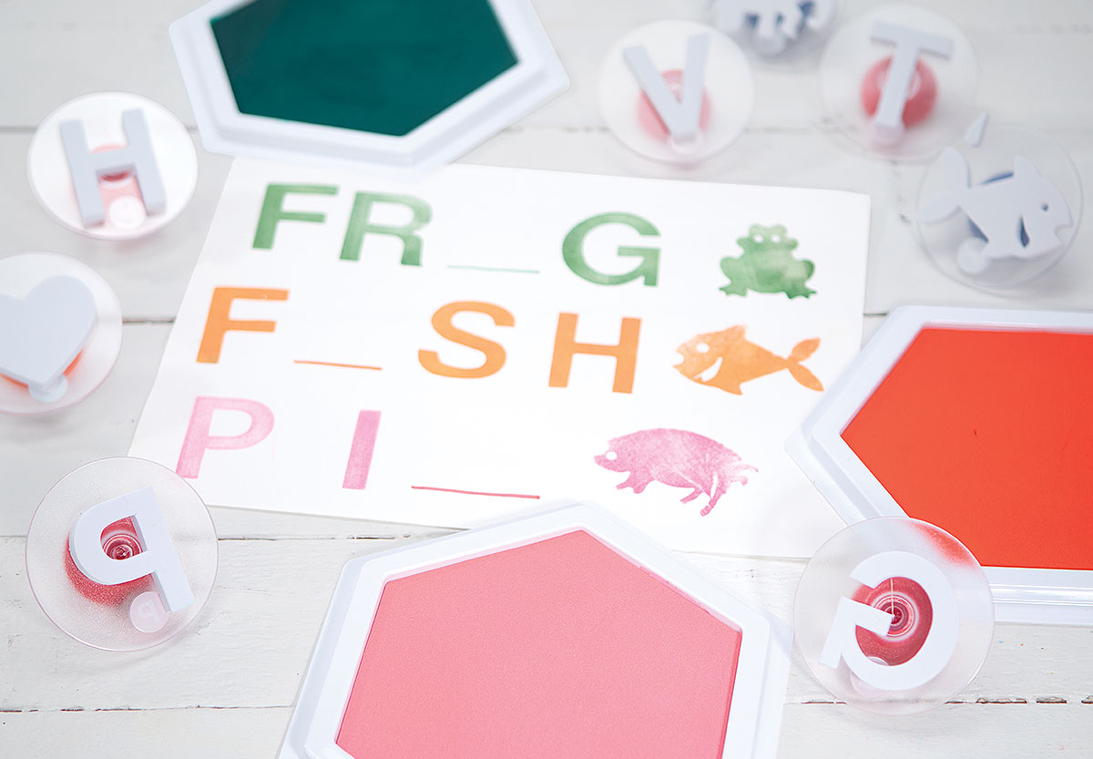Stamping Creative Craft Activity - Missing Letters