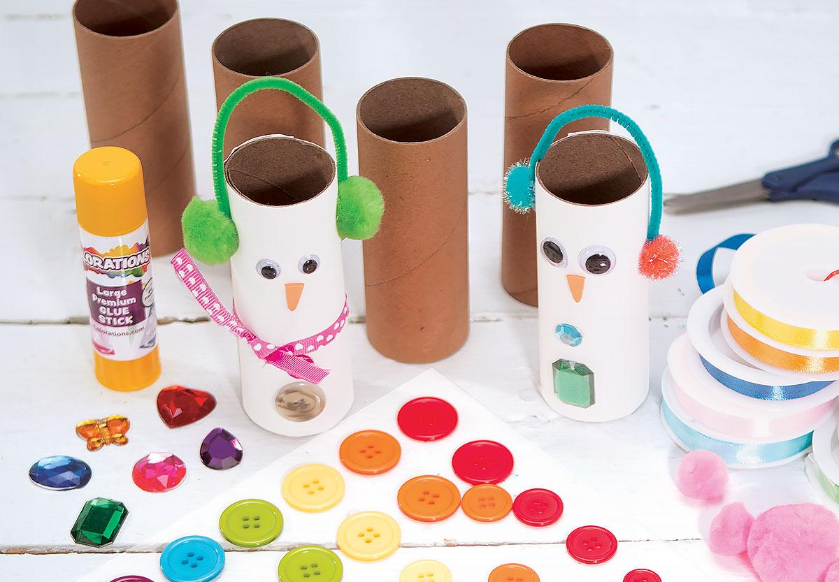 Snowperson Craft Rolls Creative Craft Activity for Winter