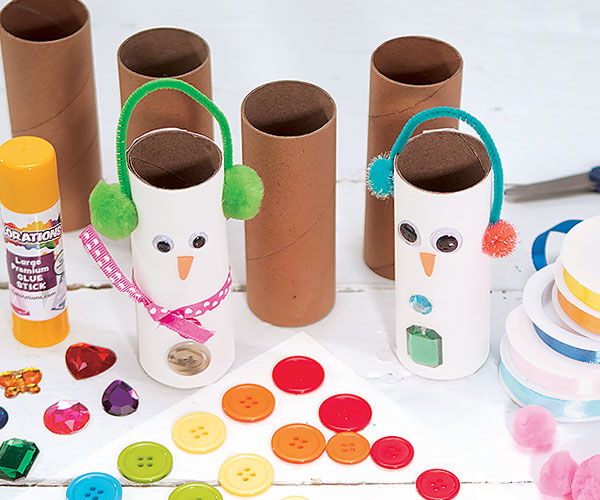 Snowperson Craft Rolls Creative Craft Activity for Winter