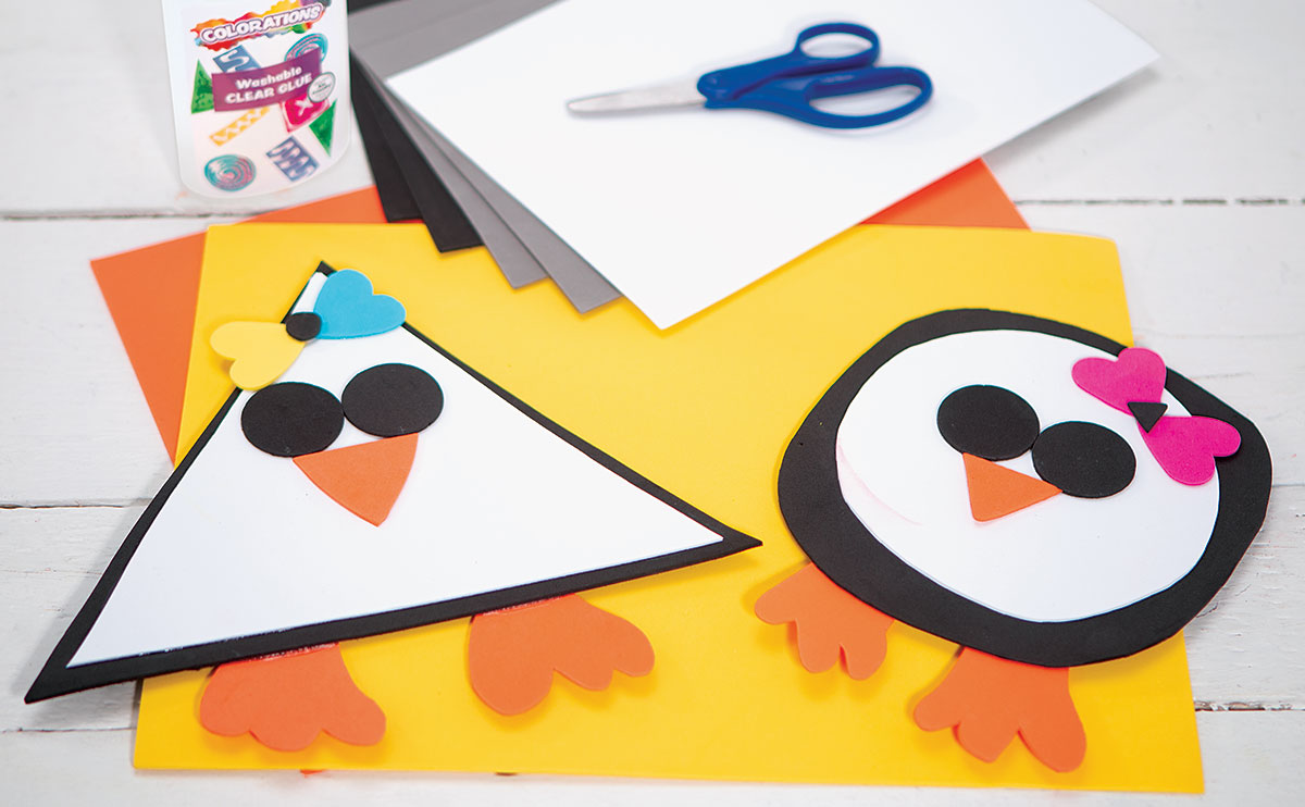 Shapes Penguins Creative Craft Activity for Winter