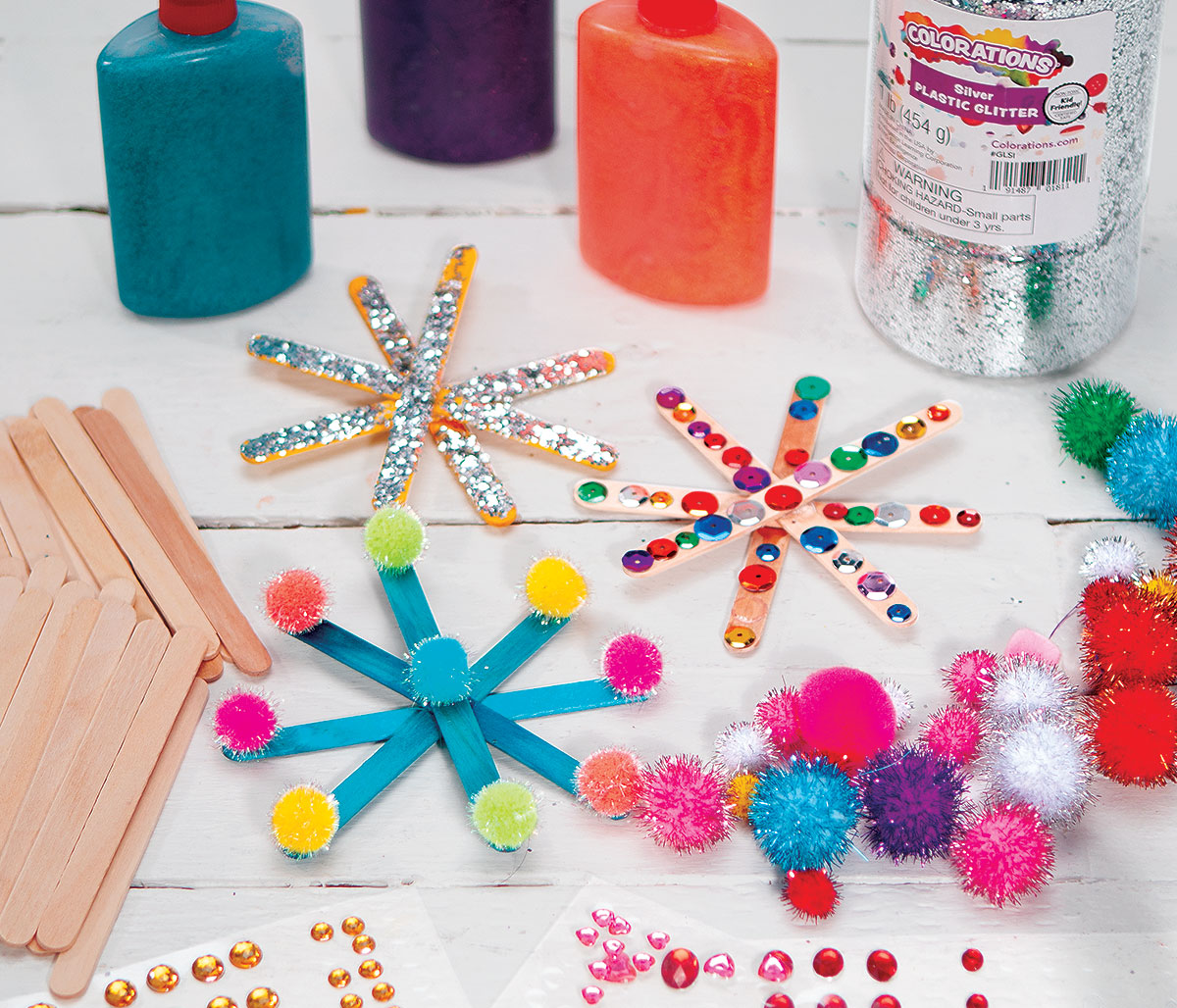 Craft Stick Snowflakes Creative Craft Activity for Winter
